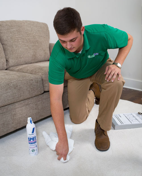 Our trained technicians will do their best to remove stains from your carpet, upholstery, or rugs.